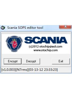 SCANIA SOPS FILE ENCRYPTOR/DECRYPTOR (EDITOR)+keygen