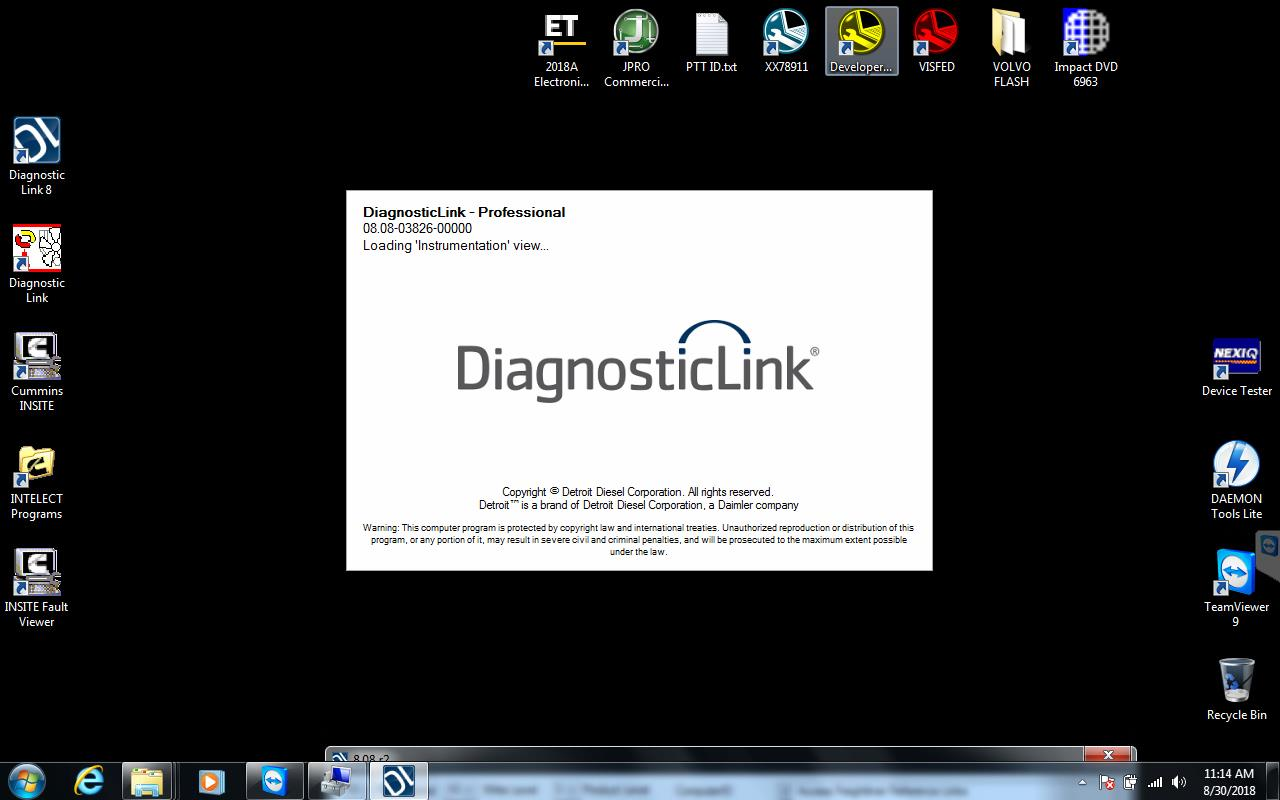 Panasonic CF53 laptop installed Heavy Duty Diagnostic software